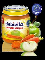 Пюре Bebivita Морква і яблуко, 125 г