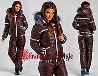 Теплый полубатальный женский лыжный костюм. Цвета!