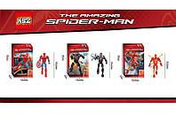 Конструктор KSZ SPIDER-MAN 315-1/2/3 (72шт/2) 3вида,  в коробке 16, 5*6, 5*26 см.