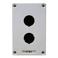 Корпус поста АСКО-УКРЕМ HJ9-2 для кнопок управления 2 места белый
