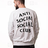 Anti Social Social Club свитшот мужской белый • Бирка ASSC • Реальные фото