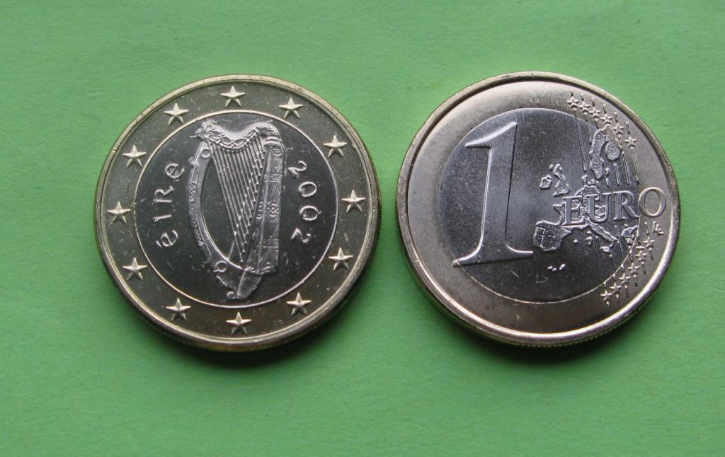 Ирландия 1 евро 2002 г. UNC.