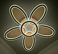 Светодиодная потолочаня LED люстра 9986/5+1 Белый 10х62х62 см., фото 1