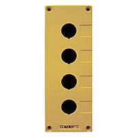 Корпус поста АСКО-УКРЕМ HJ9-4 для кнопок управления 4 места желтый