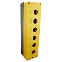 Корпус поста АСКО-УКРЕМ HJ9-6 для кнопок управления 6 мест желтый