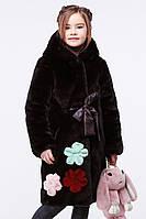 Модная шубка для девочки Кики, р-ры 134, 140,ТМ Nui very