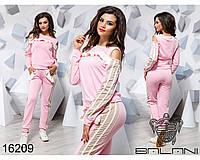 Розовый женский спортивный костюм - 16209  р-р S   M   L женская одежда от производителя Украина