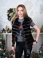 Купить женскую норковую жилетку 44 46 размера