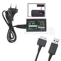 2в1 Зарядное + USB кабель для Sony PS Vita, фото 1