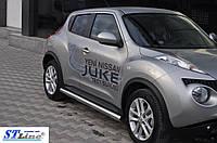 Боковые пороги  Nissan Juke 2010- /Ø60,без проступей
