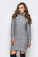 "Вязаное платье Александра ""серый"", фото 1"