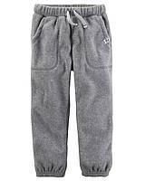 Флисовые штаны для мальчика Carters серые