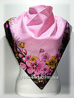 Кашемировый платок Сияние, розовый