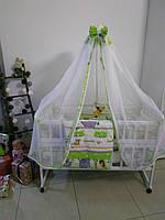 """Детский набор постельного для новорожденного 9 в 1 """"Сафари"""", зеленый, фото 1"""