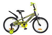 """Велосипед детский Formula Wild 18"""" черно-салатный"""