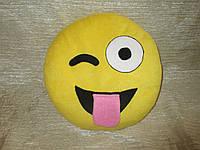 """Подушка смайл Emoji 25 см """"Дразнится"""""""