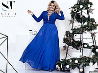 Легкое изящное платье в греческом стиле Cori с брошью на декольте (6 цветов)