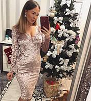 Бархатное платье 2017-2018 ХИТ ПРОДАЖ (разные цвета)
