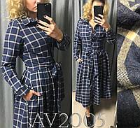 d5ece1caf2b4508 Стильное платье с воротником принт клетка, цена 304 грн., купить в ...