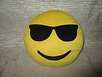 """Подушка смайл Emoji 25 см """"Крутой"""" в очках"""