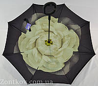 """Зонтик """"Smart"""" с обратным сложением с цветочным принтом от фирмы """"Susino"""""""