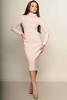 Тёплое платье женское Фроузен пудра