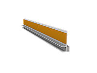 ПВХ Профиль примыкания оконный без сетки (6мм) 2,5 м белый