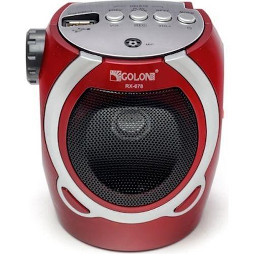 Портативна колонка радіо караоке MP3 USB Golon RX-678 Red