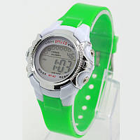 Часы электронные детские с секундомером и разноцветной подсветкой Raum Green