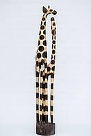 Статуэтка деревянная жирафов пара высота 100 см