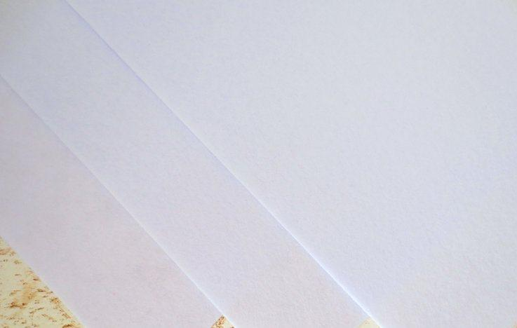 Фетр корейский жесткий 1.2 мм, 20 на 30 см БЕЛЫЙ