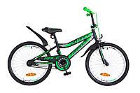 """Велосипед детский Formula Race 20"""" черно-зеленый"""