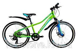 Велосипед CYCLONE DREAM 2,0 зелёно-синий