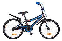 """Велосипед детский Formula Race 20"""" черно-синий"""