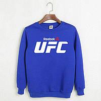Свитшот, кофта, реглан Reebok UFC (синий), Реплика
