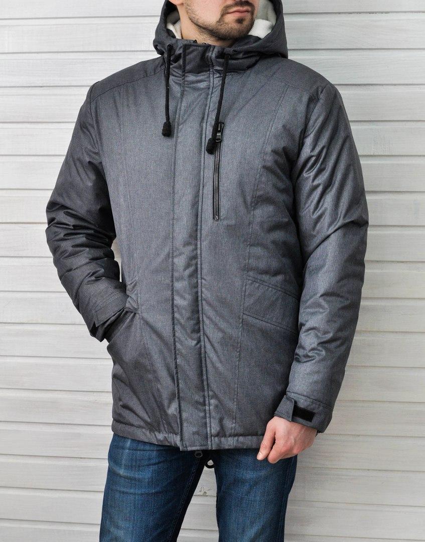 49bb1d2619dc4 Мужская зимняя куртка Baterson Snowman темно-серая - Интернет-магазин обуви  и одежды KedON