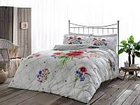 Двуспальное евро постельное белье TAC Selby Bordeaux Сатин-Delux