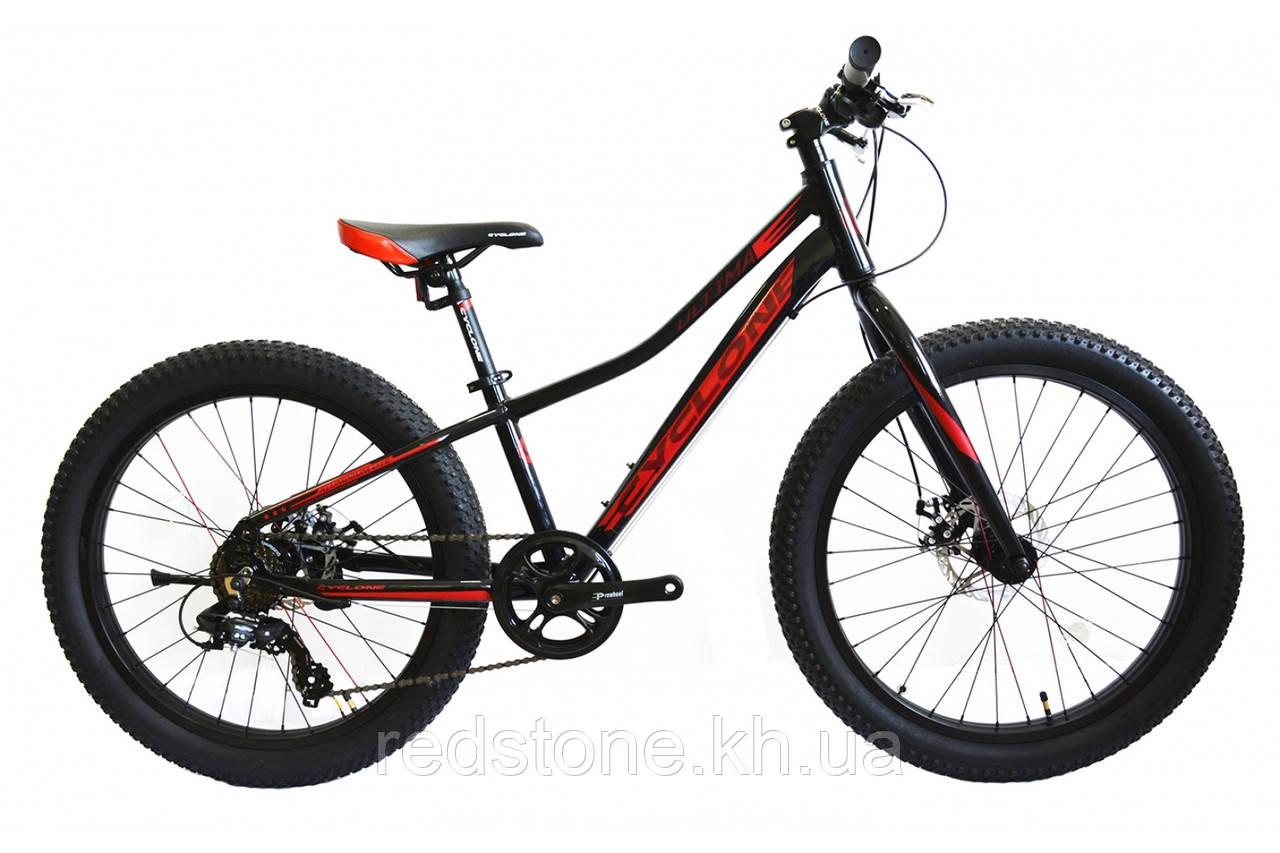 Велосипед CYCLONE ULTIMA 3.0 2017 черно-красный