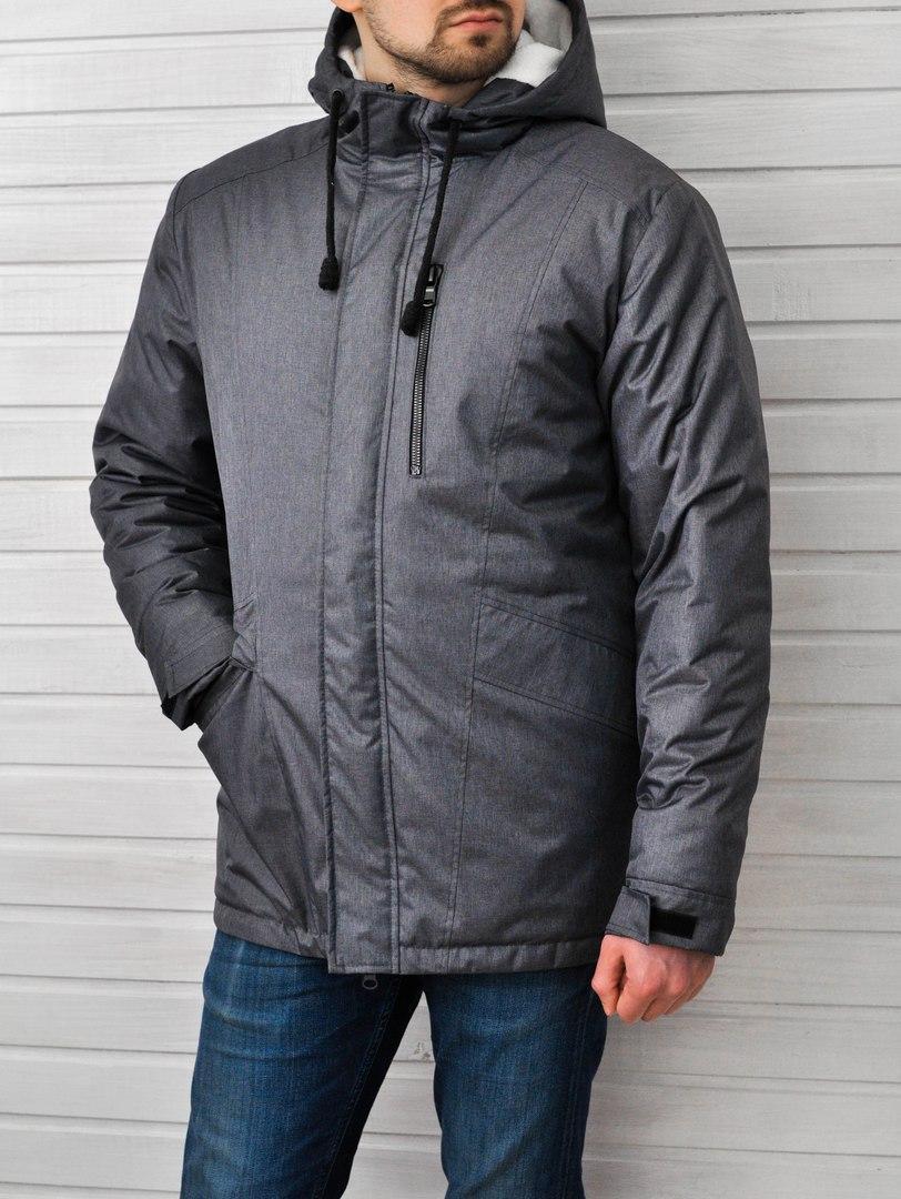35cd950c08d Мужская Зимняя Куртка Baterson Snowmannt Темно-серая — в Категории ...