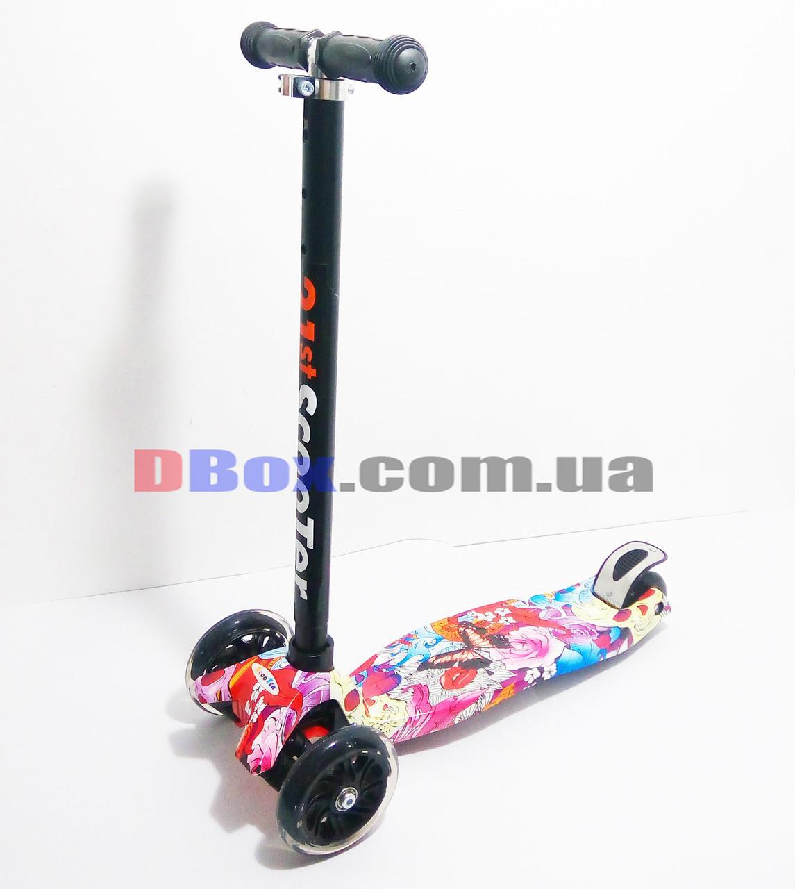 Самокат детский Scooter Maxi Style Draft Pink (2T1047)