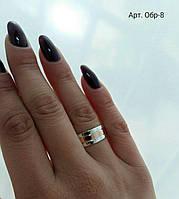 Кольцо серебряное с золотыми накладками Обручалка Обр 6