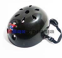Шлем детский Helmet S крепкий пластик Черный