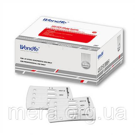 Тест комбинированный для выявления 4 видов инфекций: ВИЧ 1/2, Гепатит В (HBsAg), Гепатит С, Сифилис, фото 2