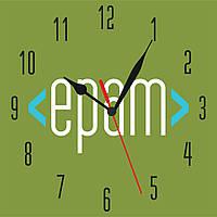 "Часы с логотипом ""epam"" 400х400 мм"