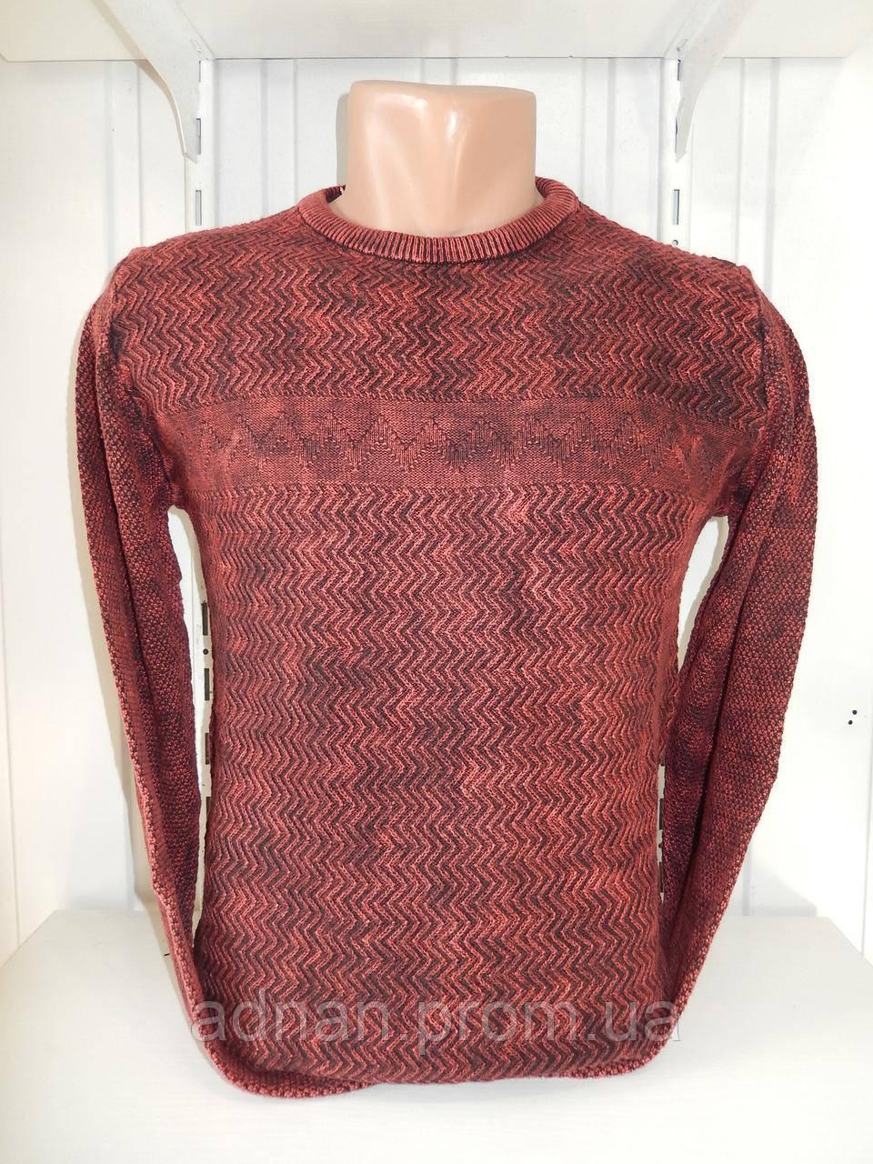 Свитер мужской DULGER, варенка  №0470 002/ купиь свитер мужской оптом