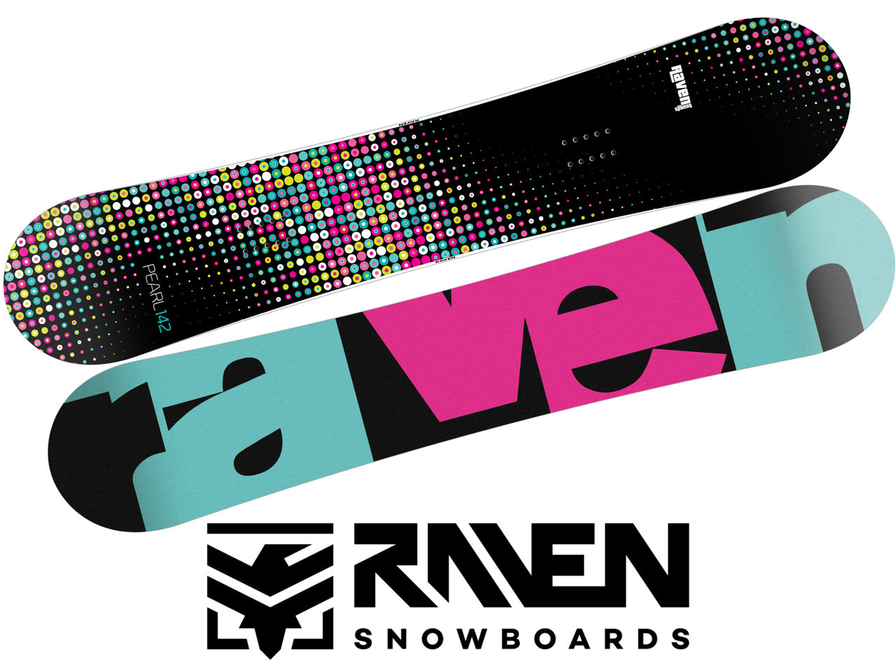 Сноуборд RAVEN PEARL BLACK/MINT 145 см