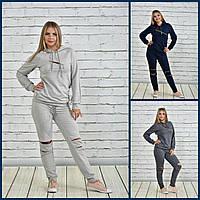 Спортивный костюм женский 770336, р 52,54,56,58,60,62,64,66 батал серый синий большого размера двухнитка