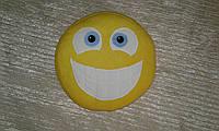 """Подушка смайл Emoji 35 см """"Широкая улыбка"""" viber"""