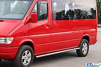 Боковые пороги  Mercedes Sprınter 2006- /средн.база /Ø60,без проступей