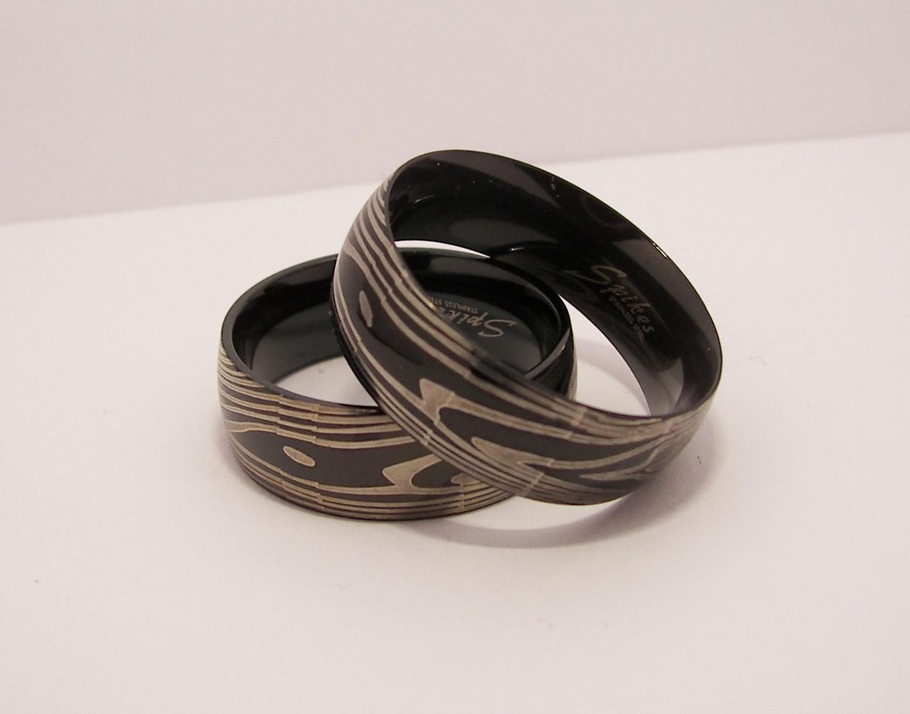 Кольцо отпечаток пальца нержавеющая сталь 316L Spikes (США), фото 1